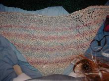 Diamond Knit Shawl - Lion Brand Pattern